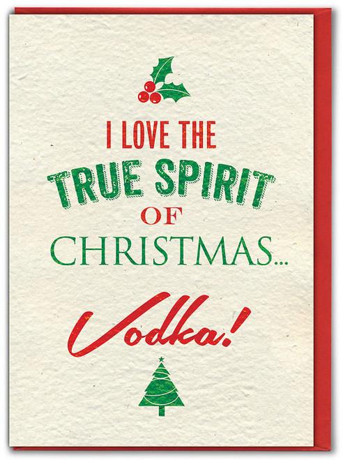 Spirit Of Christmas Vodka Christmas Card