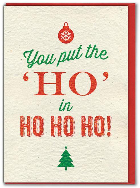 Ho In Ho Ho Ho Christmas Card