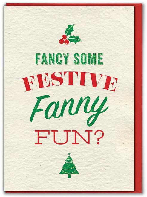 Festive Fanny Fun Christmas Card