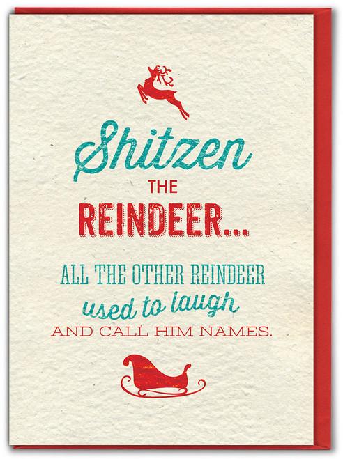 Shitzen The Reindeer Christmas Card