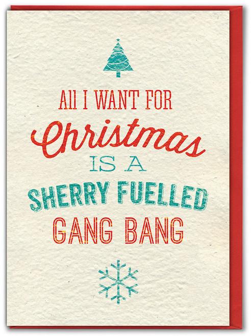 Sherry Fuelled Gang Bang Christmas Card
