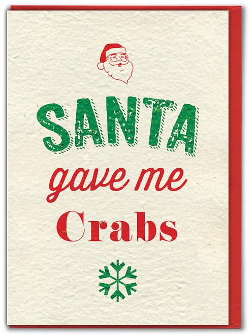 Santa Crabs Christmas Card
