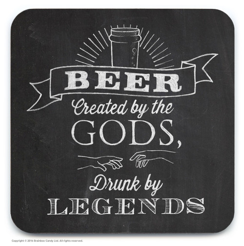 Beer Created By Gods Coaster