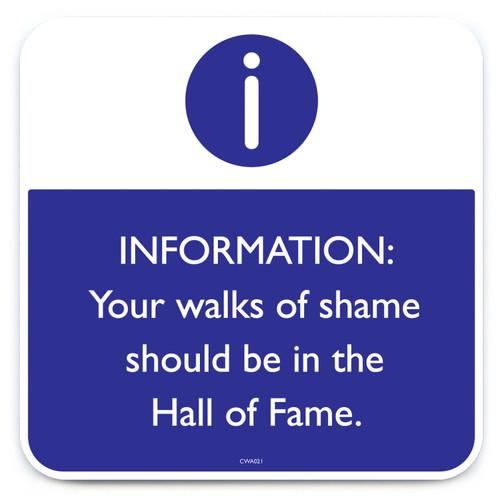 Walks Of Shame Coaster