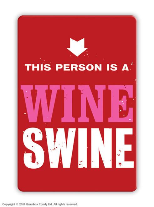 Wine Swine Magnet
