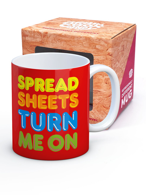 Spreadsheets Turn Me On Boxed Mug