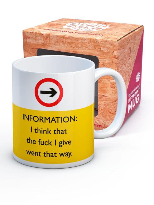 Fuck I Give Boxed Mug