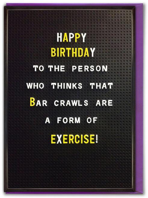 Bar Crawls Birthday Card