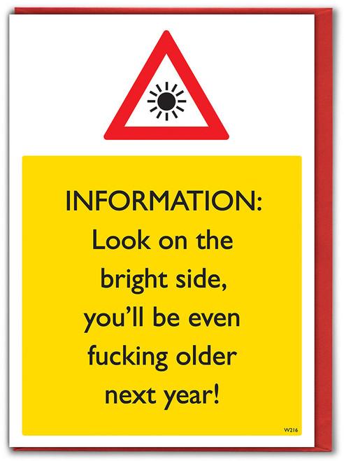 Look On Bright Side Birthday Card
