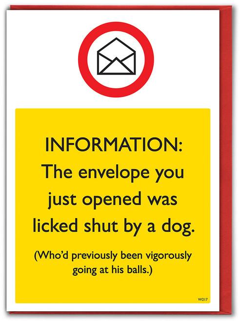 Dog Envelope Birthday Card
