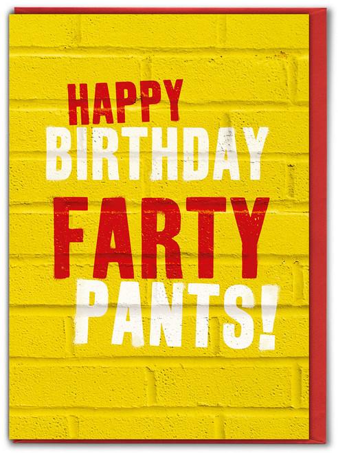 Farty Pants Birthday Card