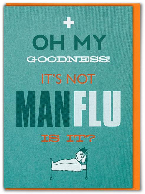 Man Flu Get Well Soon Card