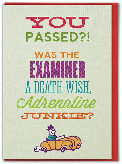 Passed Driving Test Birthday Card