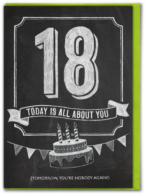 18th  Birthday  Age Card