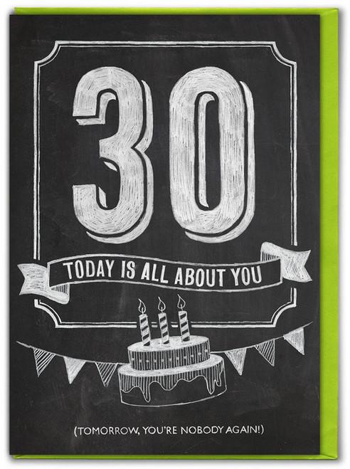 30th  Birthday  Age Card