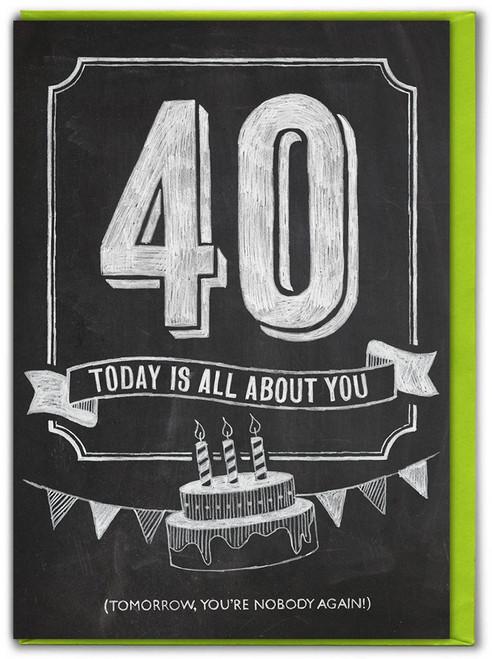 40th  Birthday  Age Card