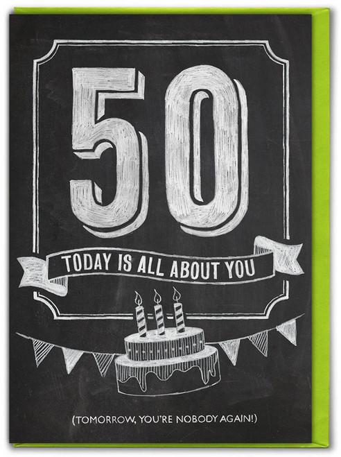 50th  Birthday  Age Card