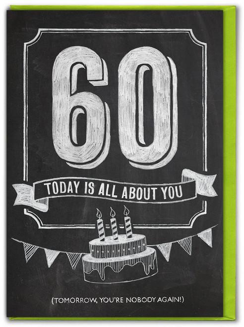 60th  Birthday  Age Card