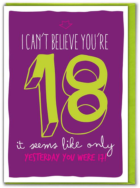 18th Birthday Greeting Card (SK001)