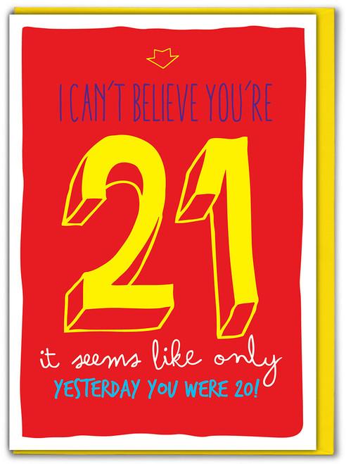 21st Birthday Greeting Card (SK002)