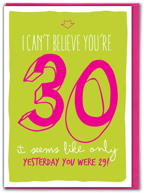 30th Birthday Greeting Card (SK003)