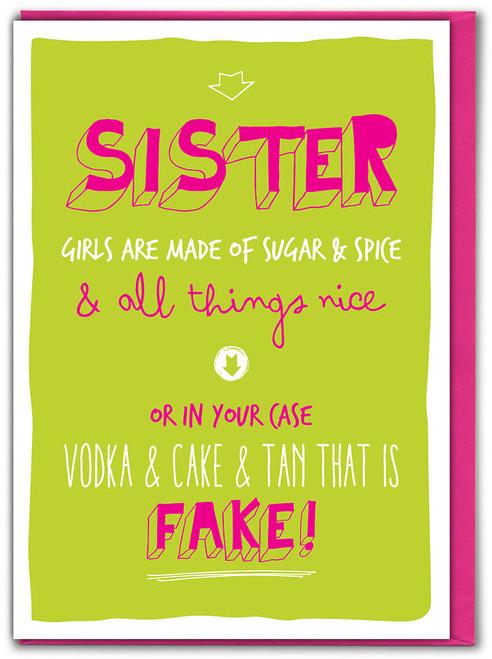 Sister Sugar & Spice Birthday Card