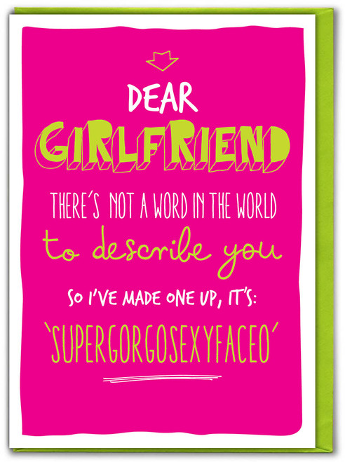Supergorgosexyfaceo Girlfriend Card