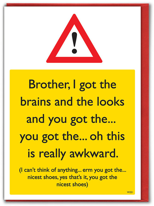 Brother Nicest Shoes Birthday Card
