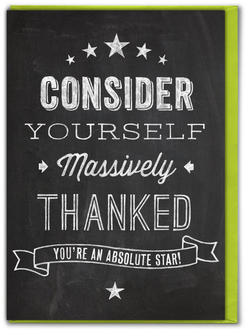 Massively Thanked Thank You Card - Multi Pack Options Available