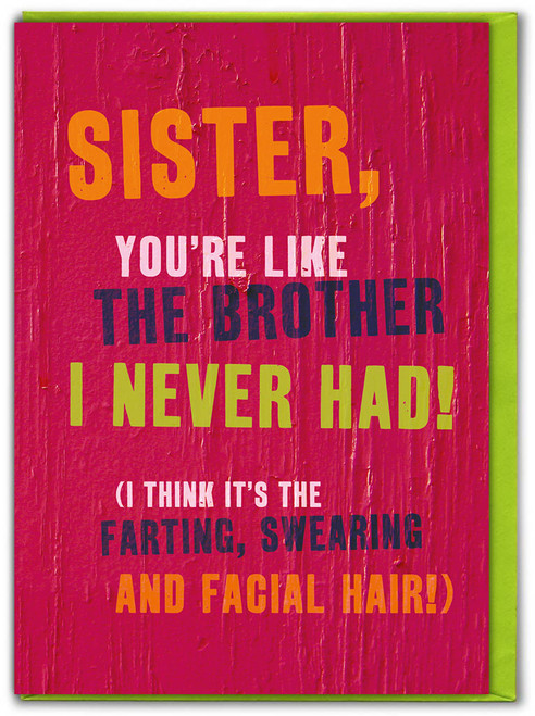 Sister Like A Brother Card