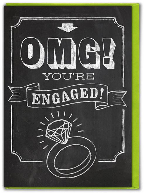 OMG Engaged! Engagement Card
