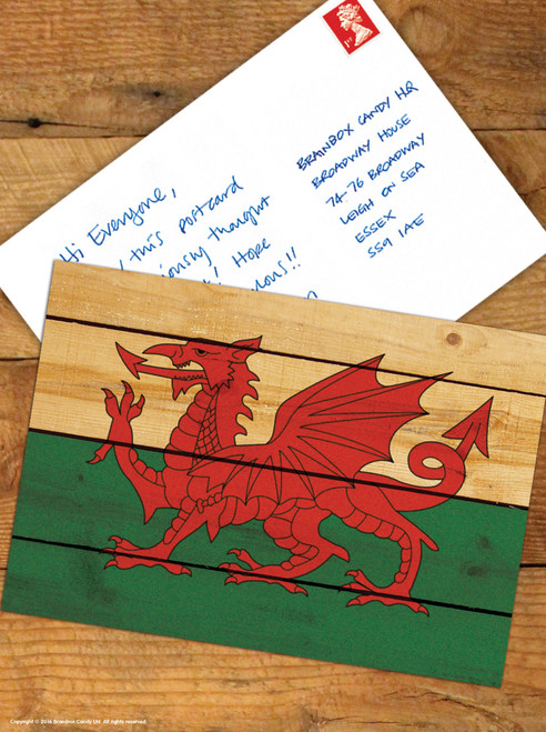 Welsh Flag Postcard