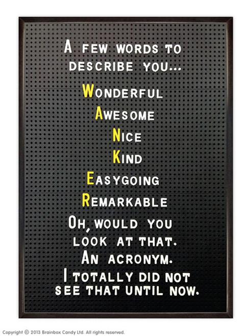 Wanker Acronym Poster