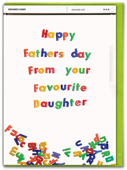 Favourite Daughter Father's Day Card