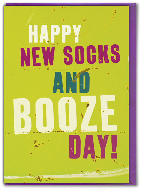 Father's Day Socks and Booze Card