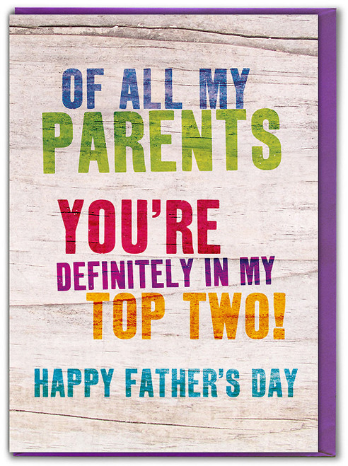 Top Two Parents Father's Day Card