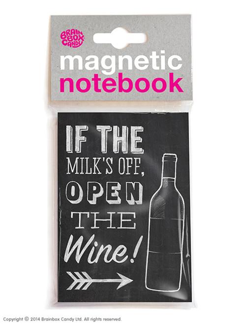 Milks Off Magnetic Notebook