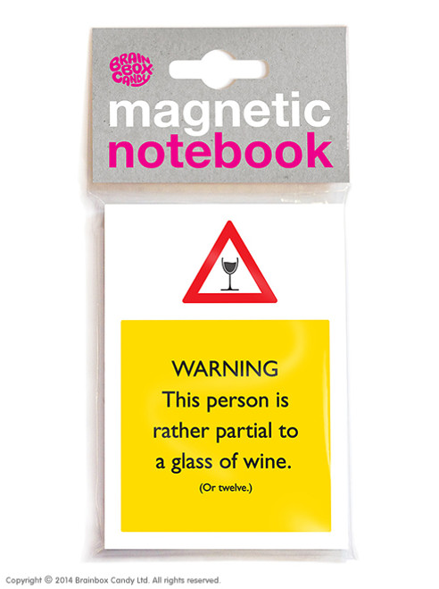 Partial To Wine Magnetic Notebook