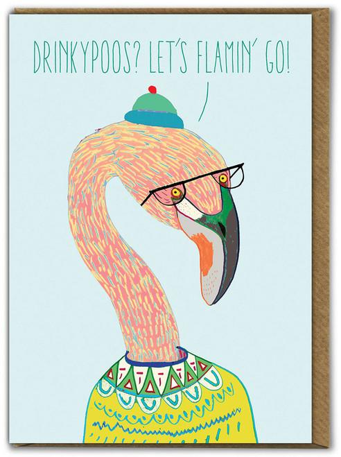 Flamin Go Birthday Card