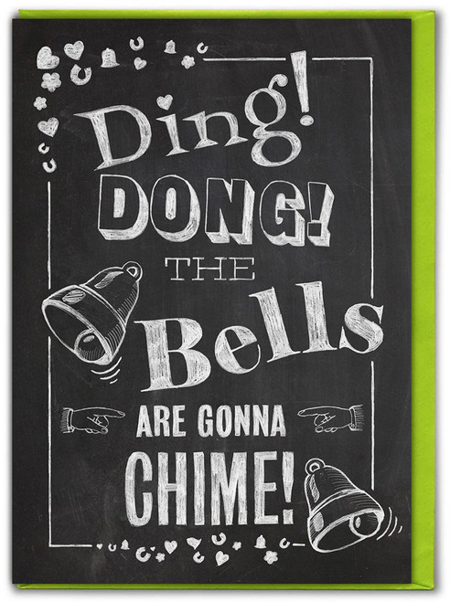 Ding Dong Bells Are Gonna Chime Engagement Card