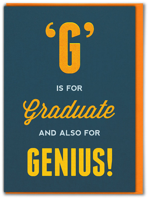 G is for Graduate Congratulations Card