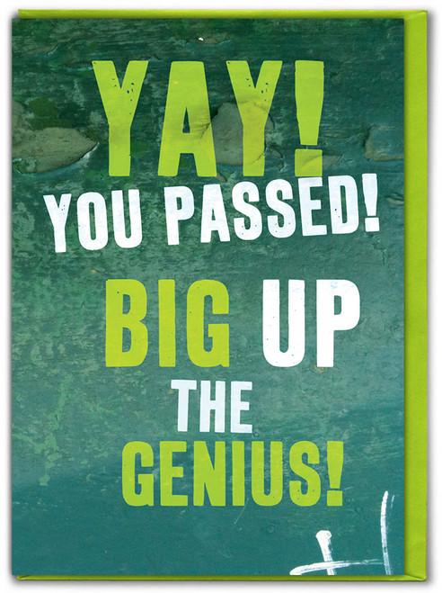 Big Up Graduate Genius Graduation Card