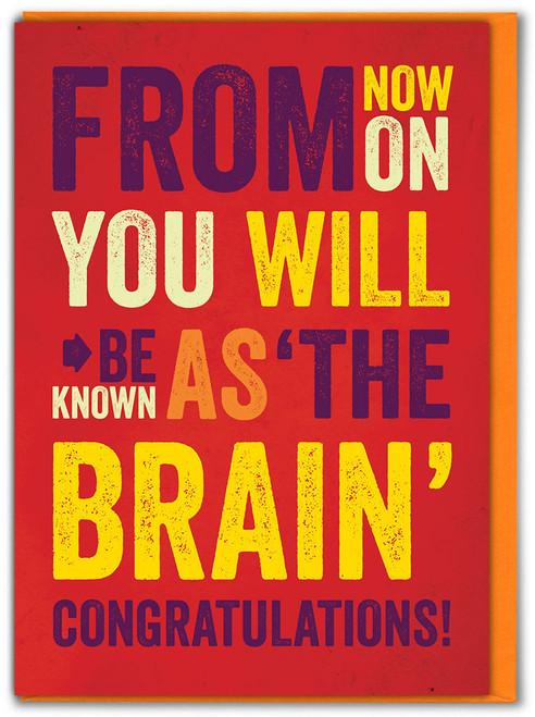 The Brain Congrats Exam Card