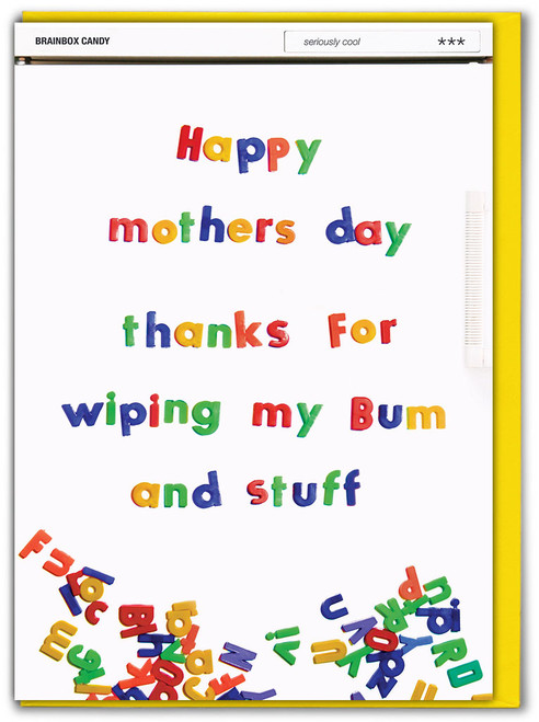Wiping My Bum Card Mother's Day Card