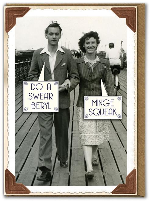 Minge Squeak Birthday Card