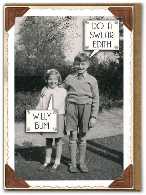 Willy Bum Birthday Card