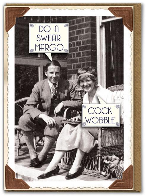 Cock Wobble Birthday Card
