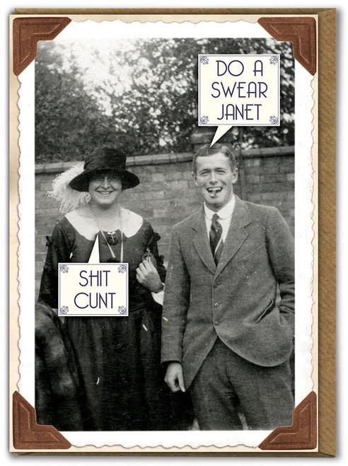 Shit C**t Birthday Card