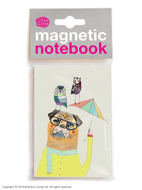 Dog & Birds Magnetic Notebook