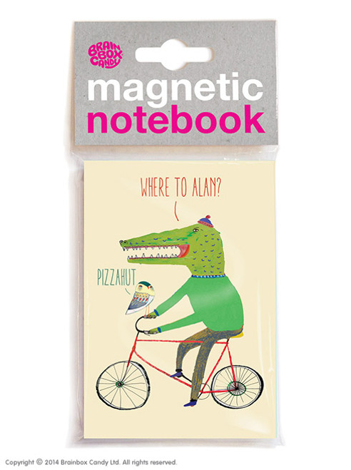 Where To Alan? Magnetic Notebook